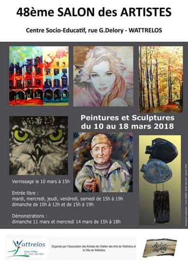 Salon des artistes wattrelos cse mars 2018